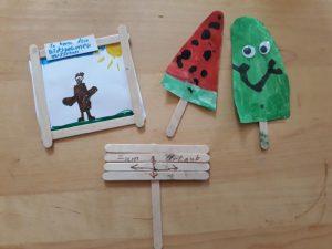 Tolle Sachen basteln mit Eis-Stielen aus Holz